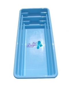 VINYLOESTER SWIMMING POOL AURA 7,00 M X 3,00 M X 1,55 M WITH FULL SET OF POOL TECHNOLOGY